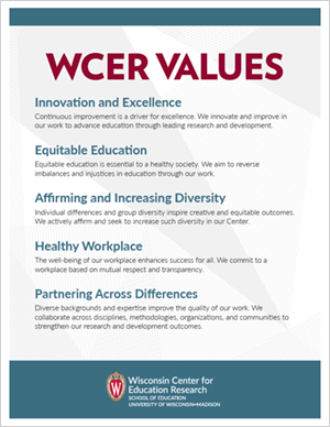 WCER Values Poster