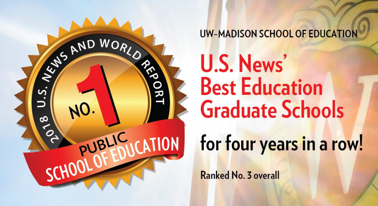 UW-Madison School of Education ranked No. 1 among public institutions by U.S. News