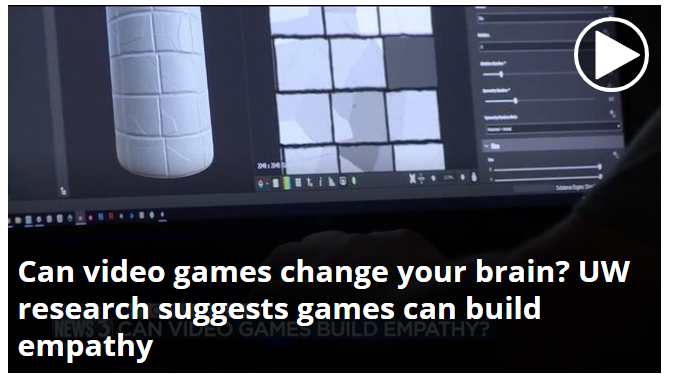 Can video games change your brain? UW research suggests games can build empathy