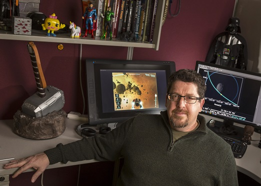 Gear Learning Director Mike Beall is ready to make an impact in education game development. Photo credit: Andy Manis