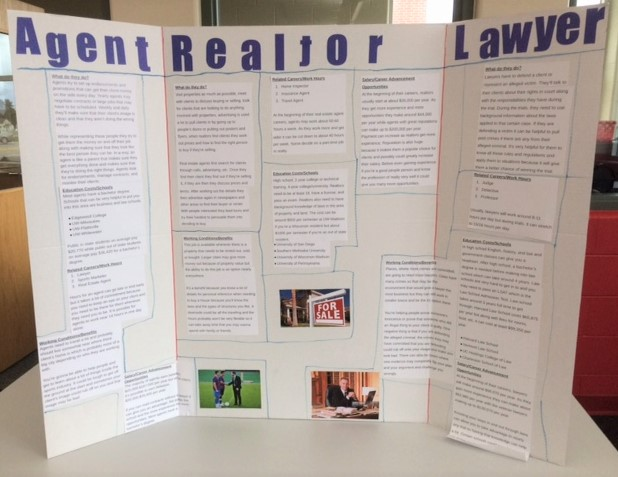 A student poster from Northland Pines Middle School demonstrates a capstone project in the ACP program.