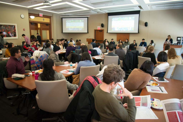 More than 100 faculty, staff and students gathered Feb. 1 in the Education Building to hear a presentation of the study.